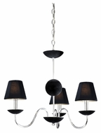 Vaxcel MA-CHU003CH Manhattan Contemporary Chrome Finish 22.25  Wide Mini Chandelier Lighting