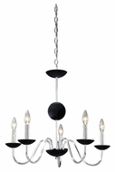Vaxcel MA-CHU005CH Manhattan Modern Chrome Finish 21.5  Tall Lighting Chandelier