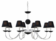 Vaxcel MA-CHU008CH Manhattan Contemporary Chrome Finish 24.25  Wide Chandelier Lamp