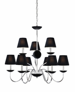 Vaxcel MA-CHU009CH Manhattan Modern Chrome Finish 27.5  Tall Chandelier Light