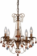 Vaxcel MN-CHU012TZ  Crystal Tuscan Bronze Finish 16.5  Wide Mini Lighting Chandelier