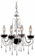 Vaxcel MN-CHU034CH  Crystal Chrome Finish 14.75  Wide Mini Hanging Chandelier