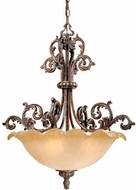 Vaxcel MT-PDU250AR Monte Carlo Traditional Aged Bronze Finish 28.63  Tall Ceiling Pendant Light