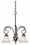 Vaxcel NI-CHD003ORZ Nice Oil Brushed Bronze Finish 24  Tall Mini Lighting Chandelier