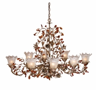 Vaxcel OL-CHU008AA Ophelia Rustic Autumn Patina Finish 28.5  Tall Ceiling Chandelier