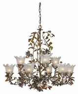 Vaxcel OL-CHU009AA Ophelia Country Autumn Patina Finish 32  Wide Hanging Chandelier