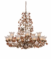 Vaxcel OL-CHU015AA Ophelia Rustic Autumn Patina Finish 37.75  Tall Chandelier Light