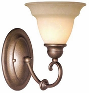 Vaxcel OM-VLU001BS Omni Bronze Stone Finish 10.125  Wide Wall Light Sconce