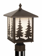 Vaxcel OP33485BBZ Yosemite Burnished Bronze Finish 8  Wide Outdoor Post Lamp