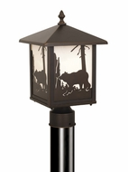 Vaxcel OP35085BBZ Bozeman Burnished Bronze Finish 8  Wide Outdoor Post Light