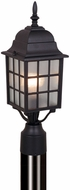 Vaxcel OP36765TB Vista Craftsman Textured Black Finish 18.25  Tall Exterior Post Light Fixture