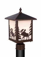Vaxcel OP36985BBZ Yellowstone Burnished Bronze Finish 14  Tall Exterior Lighting Post Light