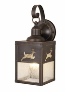 Vaxcel OW33553BBZ Bryce Burnished Bronze Finish 13  Tall Exterior Wall Sconce