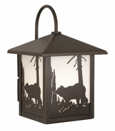 Vaxcel OW35083BBZ Bozeman Burnished Bronze Finish 9  Wide Outdoor Sconce Lighting