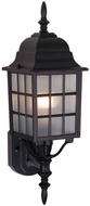 Vaxcel OW36761TB Vista Craftsman Textured Black Finish 6.75  Wide Outdoor Lighting Sconce