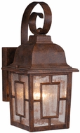 Vaxcel OW37563RBZ Vista Craftsman Royal Bronze Finish 7.25  Wide Outdoor Light Sconce