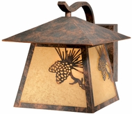 Vaxcel OW50593OA Whitebark Craftsman Olde World Patina Finish 11.5  Wide Outdoor Wall Sconce Lighting