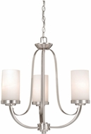 Vaxcel OX-CHU003BN Oxford Modern Brushed Nickel Finish 20  Wide Mini Chandelier Lamp
