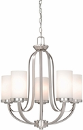 Vaxcel OX-CHU005BN Oxford Contemporary Brushed Nickel Finish 25.25  Tall Chandelier Light