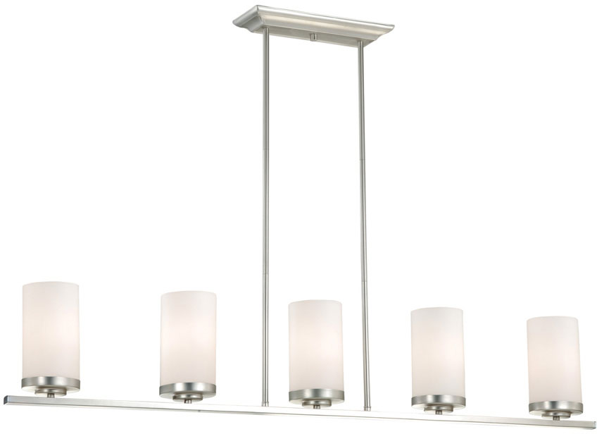 lovely Kitchen Island Lighting Brushed Nickel #4: Vaxcel P0013 Oxford Contemporary Brushed Nickel Finish 7.75u0026nbsp; Tall Kitchen  Island Lighting. Loading zoom