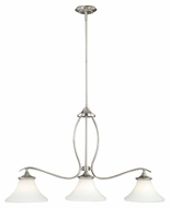Vaxcel P0021 Sonora Satin Nickel Finish 30  Tall Kitchen Island Light Fixture
