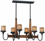 Vaxcel P0029 Meritage Charred Wood and Black Iron Finish 23.25  Tall Kitchen Island Light