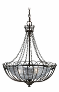 Vaxcel P0046 Novara Traditional Aged Walnut Finish 23.5  Tall Drop Lighting