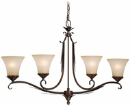 Vaxcel P0072 Coricelli Royal Bronze Finish 37.25  Wide Island Light Fixture