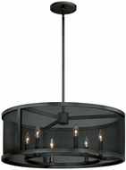 Vaxcel P0103 Wicker Park Warm Pewter Finish 28  Wide Drum Drop Lighting