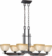 Vaxcel P0114 Descartes II Architectural Bronze Island Lighting