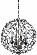 Vaxcel P0146 Trellis Architectural Bronze Ceiling Pendant Light