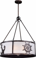 Vaxcel P0223 Nautique Sterling Bronze Drum Ceiling Pendant Light
