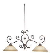 Vaxcel PD35936AZ-B Mont Blanc Aztec Bronze Finish 12  Wide Island Lighting