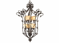 Vaxcel PD38808OL Vine Country Oil Shale Finish 27.5  Wide Foyer Drop Lighting Fixture