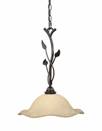 Vaxcel PD38825OL Vine Rustic Oil Shale Finish 19.5  Tall Pendant Lighting