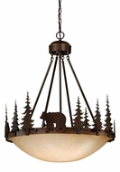 Vaxcel PD55724BBZ Bozeman Rustic Burnished Bronze Finish 24  Wide Pendant Hanging Light