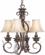 Vaxcel PR-CHU004BA Princeton Traditional Burnt Patina Finish 20  Tall Mini Chandelier Lighting