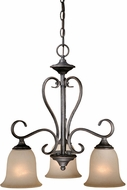 Vaxcel RV-CHD003VT Riviera Traditional Vintage Patina Finish 19  Wide Mini Lighting Chandelier
