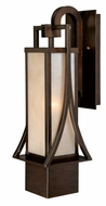 Vaxcel T0040 Osaka Craftsman Venetian Bronze Finish 19.5  Tall Exterior Wall Lamp