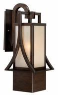 Vaxcel T0043 Osaka Craftsman Venetian Bronze Finish 10  Wide Outdoor Sconce Lighting