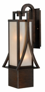 Vaxcel T0044 Osaka Craftsman Venetian Bronze Finish 24.875  Tall Exterior Light Sconce