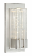 Vaxcel T0047 West Loop Modern Stainless Steel Finish 13.25  Tall LED Exterior Lamp Sconce