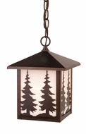Vaxcel T0048 Yosemite Burnished Bronze Finish 8  Wide Outdoor Ceiling Pendant Light