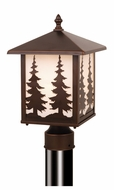 Vaxcel T0050 Yosemite Burnished Bronze Finish 8  Wide Outdoor Post Light Fixture