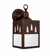 Vaxcel T0051 Yosemite Burnished Bronze Finish 11 Tall Exterior Wall Sconce Lighting