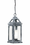Vaxcel T0056 Lockport Traditional Weathered Black Finish 18.875  Tall Exterior Mini Ceiling Pendant Light