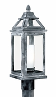 Vaxcel T0057 Lockport Traditional Weathered Black Finish 7  Wide Outdoor Post Lighting