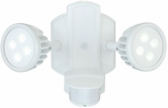 Vaxcel T0068 Lambda Contemporary White Finish 7.5  Tall LED Exterior Security Light