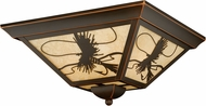 Vaxcel T0115 Mayfly Burnished Bronze Outdoor Flush Mount Lighting Fixture