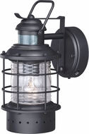 Vaxcel T0185 Hyannis Nautical Textured Black Outdoor Motion Sensor Light Sconce w/ Photocell